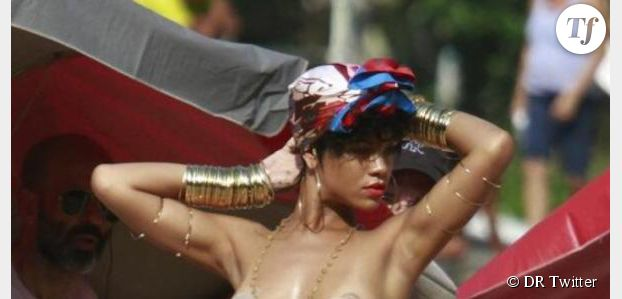 Rihanna seins nus au Brésil (photo)