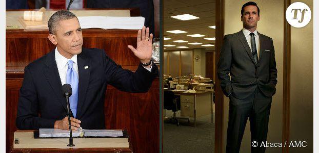"""Discours sur l'état de l'Union : Obama cite """"Mad Men"""" pour défendre l'égalité salariale"""