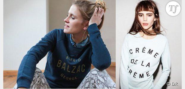 Sweats et tee-shirts à message pour week-ends stylés
