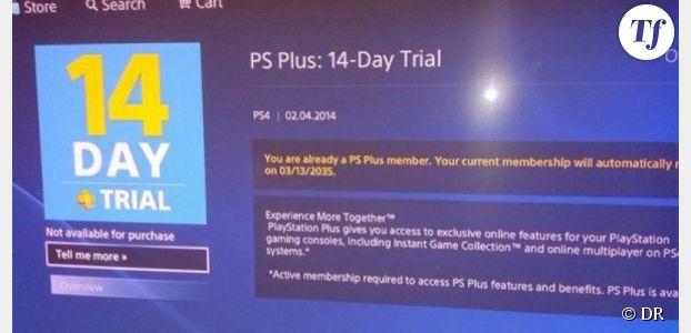 PS4 : un bug et un abonnement gratuit au PS Plus