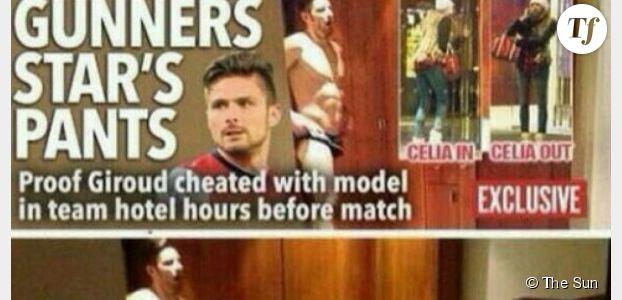 Olivier Giroud en slip dans la presse s'excuse auprès de sa femme