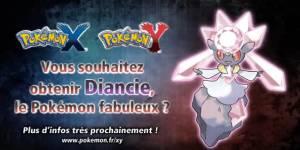 Pokemon X&Y sur 3DS : les statistiques de Diancie, nouveau légendaire