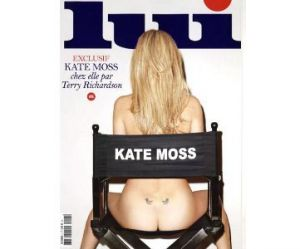 "Kate Moss pose nue en couverture de ""Lui"" – photo"