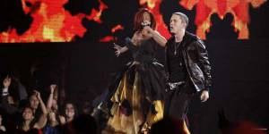 """Rihanna et Eminem préparent une série de concerts intitulée """"The Monster Tour"""""""