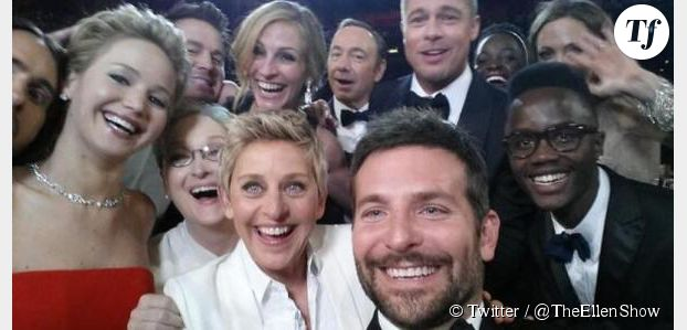 Oscars 2014 : le selfie d'Ellen DeGeneres plus fort que Barack Obama
