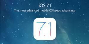 Apple propose iOS 7.1 au téléchargement