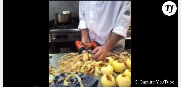 Comment éplucher une pomme de terre en quelques secondes ? (Vidéo)