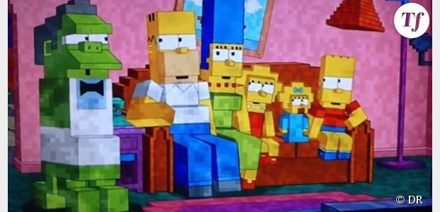 Minecraft : les Simpson font un clin d'oeil au jeu