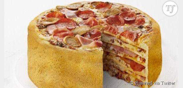 """Canada: une chaîne de fast-food va commercialiser un """"gâteau-pizza"""""""