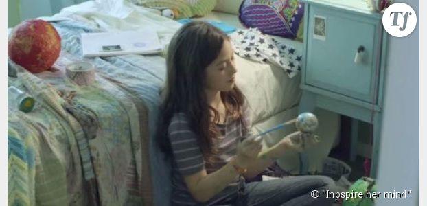 Une publicité dénonce la manière insidieuse dont on décourage les filles d'étudier les sciences