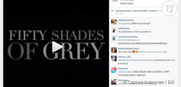 "Beyoncé poste un teaser inédit du film ""Fifty Shades of Grey"" sur son compte instagram"