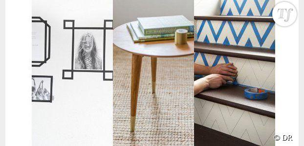 1 robes de soiree grande taille masking tape 3 id es d co avec le scotch arty du moment. Black Bedroom Furniture Sets. Home Design Ideas