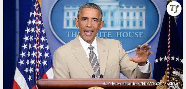 Barack Obama : son costume beige trop grand fait le buzz