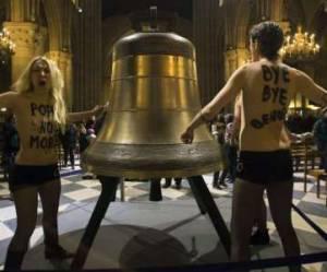 Procès de Notre-Dame : les Femen relaxées, Twitter s'enflamme