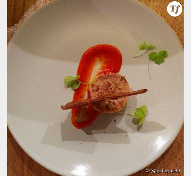 Foie gras. Restaurant Miles. Bordeaux.