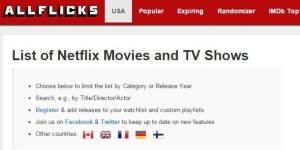 Allflicks : un moteur de recherche pour Netflix