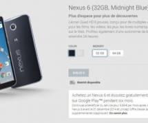 Nexus 6 : enfin disponible dans la boutique en ligne en France