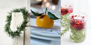 DIY de Noël : une déco de table végétale, chic et pas chère du tout