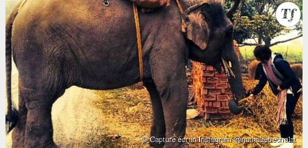 Nathalie Péchalat : les photos de son voyage en Inde
