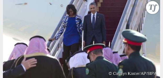 Michelle Obama non voilée scandalise l'Arabie saoudite