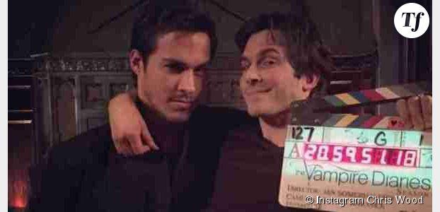 Vampire Diaries saison 6 : Ian Somerhalder et Chris Wood, nouveaux meilleurs amis ? (photo)