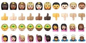 Apple : une nouvelle gamme d'émoticones avec plusieurs couleurs de peau