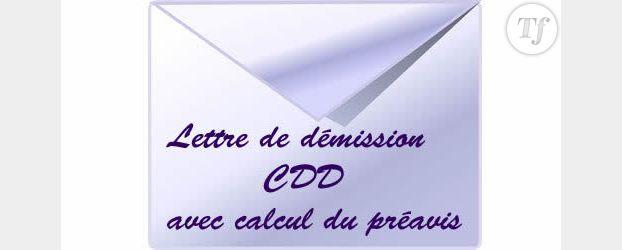 Rédiger une lettre de démission (CDD avec calcul du préavis)