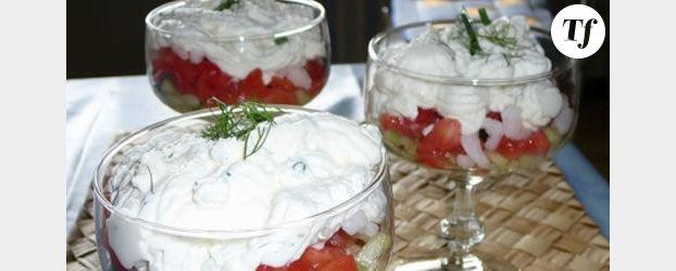 Verrine Tomates-Crevettes