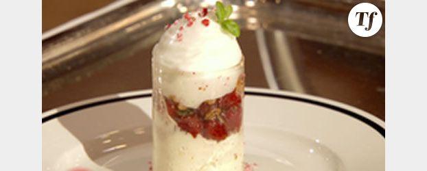 Le tube en sucre du dessert de Frédéric Anton à la finale de Masterchef