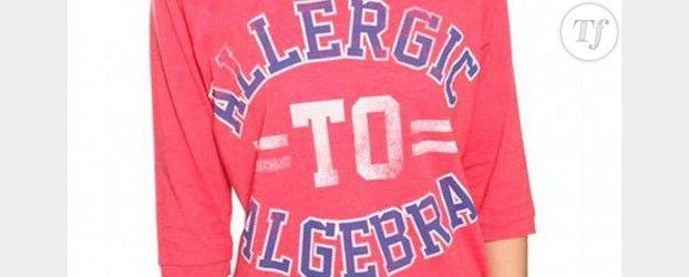Sexisme : un tee-shirt pour fille « allergique à l'algèbre »