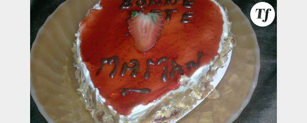 Gateau au fraises pour la Fête des mères