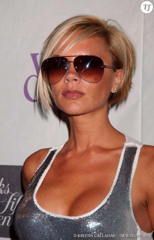 Victoria Beckham avec des cheveux blonds