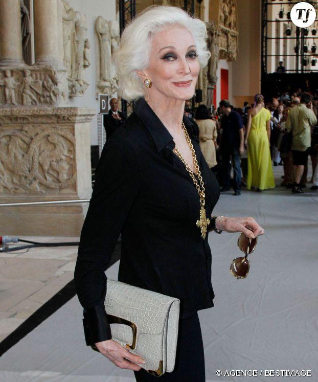 Carmen Dell'Orefice, la célèbre mannequin octogénaire, en 2011.