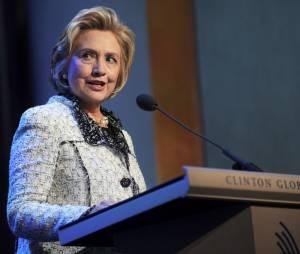 Hillary Clinton lors du Clinton Global Initiative Meeting a New York le 25 septembre 2013.