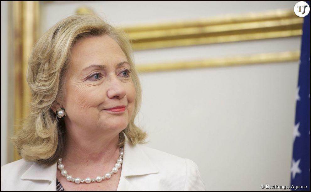 Hillary Clinton lors de sa visite au roi Juan Carlos d'Espagne à Madrid, le 2 juillet 2011.