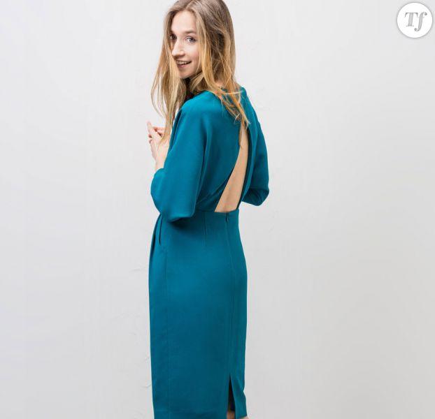 Robe de temoin de mariage bleu turquoise