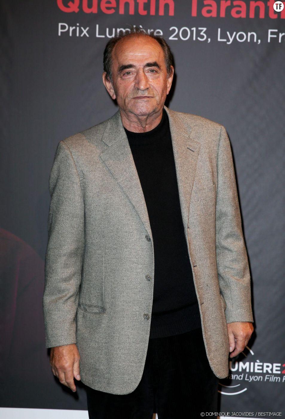 L'acteur Richard Bohringer à la remise du Prix Lumière 2013 à Quentin Tarantino à l'amphithéâtre du palais des Congrès de Lyon le 18 octobre 2013.