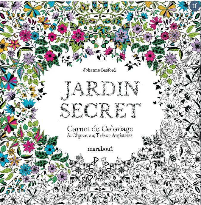 jardin secret carnet de coloriage chasse au tr sor anti stress. Black Bedroom Furniture Sets. Home Design Ideas