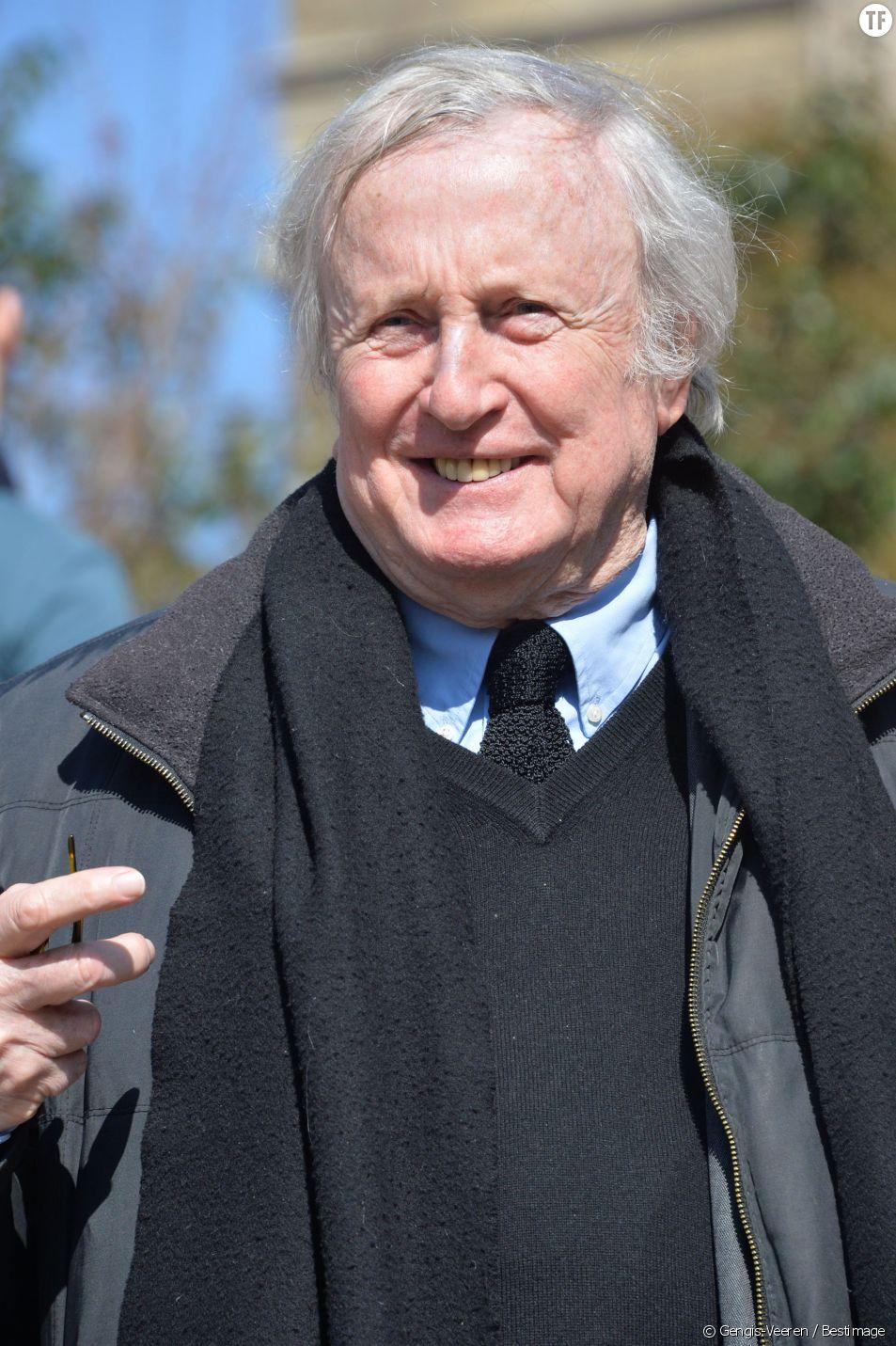Claude Rich aux funérailles d'Alain Resnais en l'église Saint-Vincent-de-Paul à Paris le 10 mars 2014.