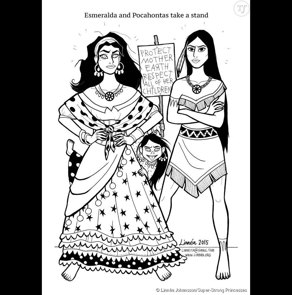 Linnéa Johansson réinvente les princesses Disney. Avec elle, Esmeralda et Pocahontas deviennent des féministes.