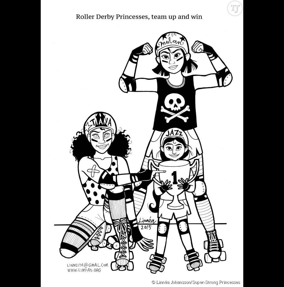 Les princesses Disney excelle en roller derby