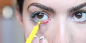 La nouvelle tendance beauté des ados : se maquiller avec des crayons de couleurs