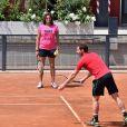 Andy Murray et sa coach Amélie Mauresmo, enceinte, en Italie le 14 mai 2015.