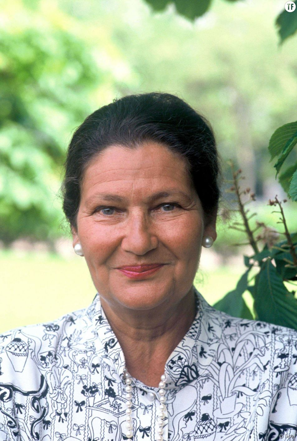 Simone Veil en 1989.