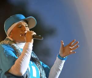 La rappeuse Diam's sur scène en 2010