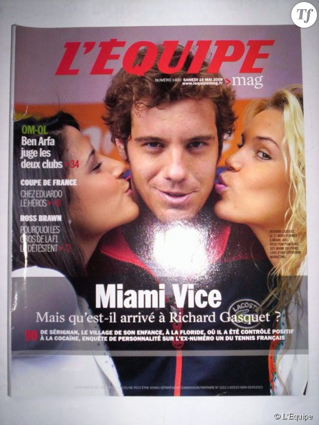 """Scandale cocaïne de Gasquet : L'Equipe titre """"miami vice"""""""