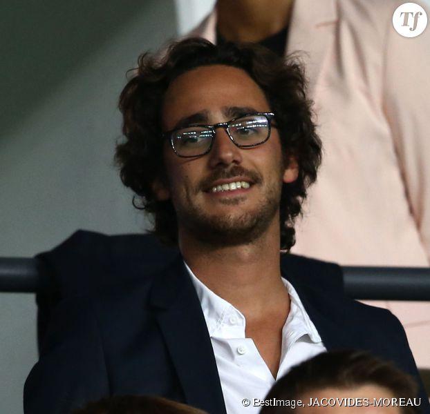 Thomas Hollande assiste au match PSG-Barcelone de la Ligue des Champions 2014 au parc des princes à Paris le 30 septembre 2014.