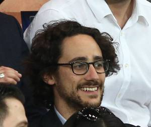 Thomas Hollande assiste au quart finale de la Ligue des Champions de football au Parc des Princes entre le PSG et le FC Barcelone à Paris le 15 avril 2015.