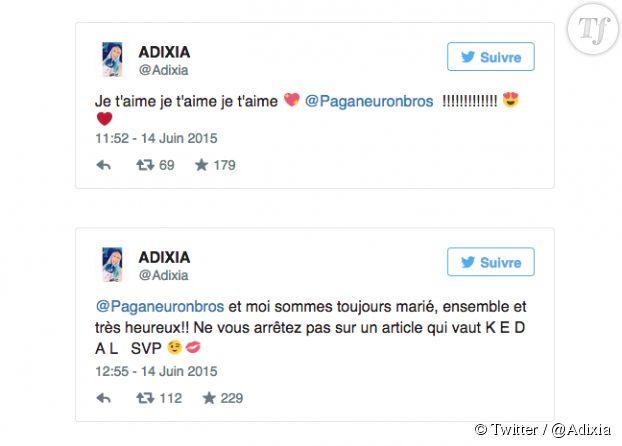 Adixia a tenu à mettre les choses au clair sur Twitter.