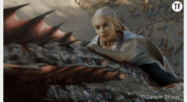 Un peu comme Daenerys sur le dos du dragon dans Game of Thrones